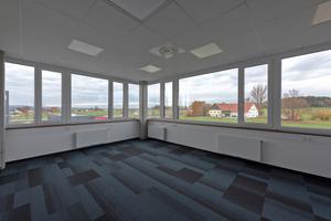 Die Büroflächen sind frei nach Wunsch der Mieter in Größen zwischen 20 und 225 m² gestaltbar