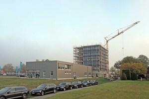 Holzbau auf dem Land: In der kleinen Gemeinde Schöppingen entsteht ein 6geschossiger Holz-Hybrid-Bau