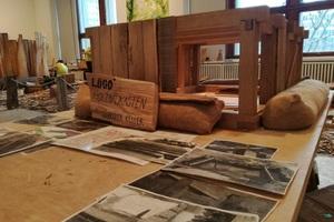 Ein Modell des Holzkellers in der Ausstellung soll Kinder inspirieren, selbst Hand anzulegen und macht den Bau des Holzkellers nachvollziehbar<br />