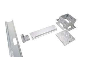 Mit einem Clip-System lassen sich die Komponenten schnell zusammenbauen und beliebig variieren und verlängern. So werden sie jeder Einbausituation gerechtFoto: Richard Brink GmbH