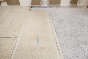 Neben Gipsfaserplatten für die Wände wurden bei der Aufstockung auch Trockenestrichelemente verarbeitet
