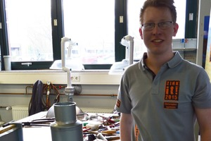 Christopher Egemann hat bei den Rheinzink Masters 2015 ein Meisterstipendium gewonnen und gerade seinen Dachdeckermeister-Kurs erfolgreich abgeschlossen