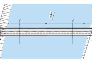 """Draufsicht der Neckarbrücke <div class=""""bildnachweis"""">Zeichnungen/Grafiken: Ingenieurbüro Miebach</div>"""