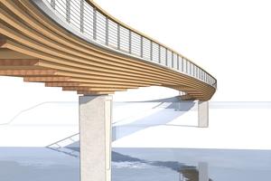 Die Neckarbrücke in der Planung der Architekten
