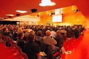 Rund 450 Besucher kamen zur 40. Fachtagung Holzbau Baden-Württemberg nach Stuttgart<br />Foto: Florian Alber