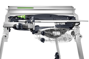 """Die Tischzugsäge """"Precisio CS 50"""" lässt sich zu einer vollwertigen Sägestation ausbauen"""
