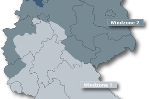 Windzonen in DeutschlandGrafik: Creaton