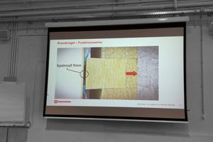 """Die Zeichnung zeigt die Funktion der Brandriegel und Abstandhalter zwischen Fassade und Unterkonstruktion <div class=""""bildnachweis"""">Quelle: Rockwool</div>"""