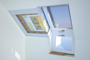 Mit geprüften Bauteilsystemen wie diesem Schrägdachaufbau sind Holzbaunternehmen und Zimmerer gesundheitlich auf der sicheren Seite, von der Dacheindeckung bis zur Wandfarben Grafik: Sentinel Haus Institut