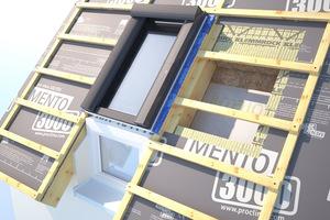 Mit geprüften Bauteilsystemen wie diesem Schrägdachaufbau sind Holzbaunternehmen und Zimmerer auf der sicheren Seite, von der Dacheindeckung über die Unterspannbahn bis hin zur Dämmung⇥