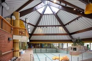 Der Innenraum des Schwimmbads blieb von den Umbaumaßnahmen nahezu unberührt. Seit Dezember 2017 ist das Vitus-Bad wieder geöffnet