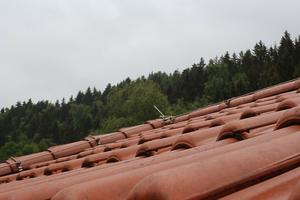 """Die """"Nibra-DS 5""""-Dachziegel sind seit 14 Jahren dem Wetter im Harz ausgesetzt, das Dach zeigt keine Schäden"""