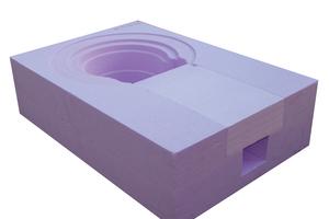 Die Einbindung des abgewinkelten Dachablaufs in die Dämmebene gelingt mit einem vorgeformten Dämmkörper