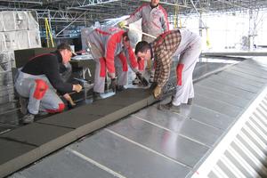 Dach- und Wandflächen des Gebäudes sind mit mehreren Lagen Schaumglasdämmplatten gedämmt Foto: Foamglas