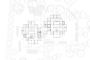Die wabenartige Grundstruktur des Gebäudes ergibt sich aus dem rasterförmigen Aufbau des Tragwerks Quelle: Waechter + Waechter Architekten BDA, Darmstadt