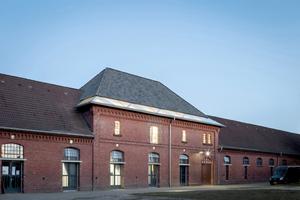 Ebenfalls mit einer Anerkennung des Dt. Holzbaupreis 2019 ausgezeichnet: die neuen Ateliers der Kunstakademie in Münster