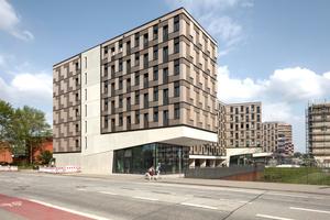 Das Studentenwohnheim Woodie in Hamburg in Modulbauweise wurde beim Deutschen Holzbaupreis 2019 ausgezeichnet
