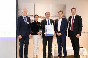 """Für die """"SawStop""""-Technologie wurde Festool beim EuroTest-Preis 2019 der BG Bau ausgezeichnet<br />"""