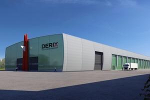 Die neue Produktionshalle für Brettsperrholzbauteile der Derix-Gruppe in Westerkappeln wurde im April 2019 fertiggestelltVisualisierung: pg-mesum