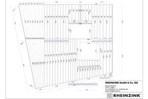 """Mithilfe des digitalen Aufmaßes erstellten die Rheinzink-Anwendungstechniker mit der Software """"Sema"""" Planungsunterlagen zur Vorfertigung und Montage"""