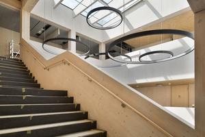 Innenaufnahme des Erweiterungsbaus des Gymnasiums Nord in Frankfurt-Westhausen