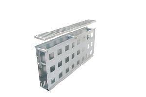 """Die Fassadenrinnen """"Stabile Air"""" werden standardmäßig in einer Länge von 1 m angefertigt. Neben Standard-Einlaufbreiten und -Höhen produziert die Richard Brink GmbH & Co. KG auch Maßanfertigungen der Rinnen"""