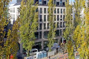 Das Wohn- und Geschäftshaus in der Münchner Leopoldstraße 53 nach FertigstellungFoto: Bauder