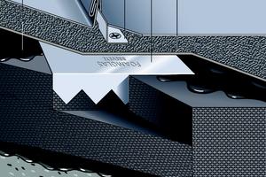 Schematischer Dachaufbau eines Metalldaches mit Schaumglas-DämmungQuelle: Foamglas