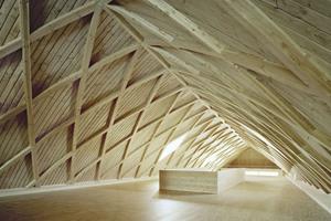 """Blick in den Ausstellungsraum unter dem Dach des fertiggestellten Biodiversums <span class=""""bildnachweis"""">Foto: Brigida González</span>"""