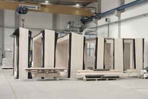 Die Rahmenmodule stehen zum Abtransport bereit Fotos (2): Ackermann GmbH/Jens Kestler