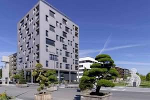 """Der urbane Holzbau ist ein Schwerpunkt des Europäischen Holzbaukongresses, dabei geht es auch um den zehngeschossigen Holz-Hybrid """"Skaio"""" in Heilbronn        Foto: Häfele"""