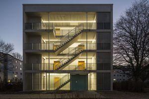 Mit den würfelförmigen Gebäuden erweitert die Bremer Wohnbaugenossenschaft Gewoba AG einen Teil ihrer Wohnsiedlungen