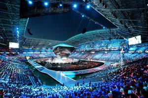 Eröffnungsfeier der Worldskills: Mit einer gigantischen Show startete und endete die Weltmeisterschaft der Berufe im russischen KasanFoto: Worldskills Germany/Anja Jungnickel