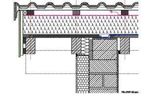 Wird die Dämmung auf einer Dachschalung verlegt, muss diese auf der Mauerkrone getrennt werden, um einen Anschluss der Luftdichtheitsschicht zu ermöglichen