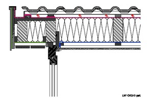 Soll auf der Sparrenoberseite des Dachüberstands eine Schalung verlegt werden, ist die Höhe der Streich- und Flugsparren (links im Bild) entsprechend der Schalungsdicke niedriger zu wählen