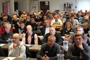 Rund 120 Teilnehmer kamen zum 2. Dach-Forum Mecklenburg-Vorpommern in Güstrow  ⇥Foto: LIV MV/Knirk