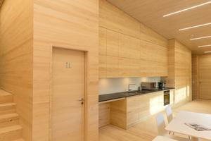 Büros, Ausstellungsflächen, eine Werkstatt für die Landschaftspflege sowie ein Wohnbereich für freiwillige Helfer finden sich im neuen NABU-Bodenseezentrum