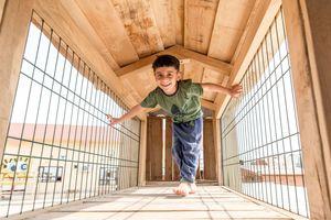Der Spielplatz bietet den Kindern des Waisenhauses einen geschützten Ort zum Spielen und Austoben<br /><br />
