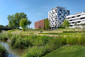Das zehngeschossige Holz-Hybrid-Hochhaus Skaio in Heilbronn zeigt, welche Möglichkeiten es im mehrgeschossigen Holzbau gibt