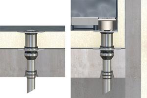 """Balkonentwässerung ist ein Schwerpunkt von Loro auf der DACH+HOLZ. Die Balkonabläufe der """"Serie V"""" sind mit Dachbahnen und Flüssigkunststoff kompatibel"""