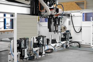 """Das Schnellwechselsystem """"fastenerSwitch"""" bietet Platz für bis zu vier Befestigungsgeräte"""