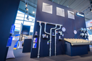 Im Bereich der Dachentwässerung wurden Neuentwicklungen der letzten Jahre präsentiert wie der Stirnbretthalter und die verschiedenen Modelle des Wasserfangkastens
