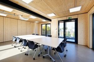 Das Mockup bildet einen Großteil des neuen Forscherhauses bei Brüninghoff. Das Obergeschoss wird als Besprechungsraum genutzt