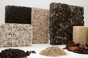 """Der biobasierte Dämmstoff """"OrganoPor"""" wird mithilfe von Rest- und Abfallstoffen aus der Land- und Forstwirtschaft erzeugt"""