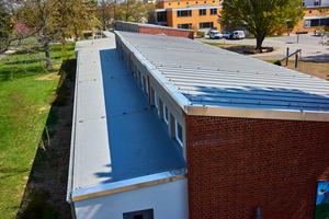 Das Schulgebäude der Albert-Schweitzer-Mittelschule nach der Sanierung