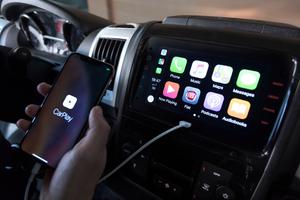 """Neu im Fiat """"Ducato"""" des Modelljahres 2020 ist auch das Infotainment-System mit sieben Zoll großem Touchscreen und integriertem Apple """"CarPlay"""""""