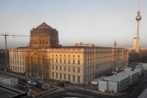 Stand der Arbeiten am Berliner Schloss im Dezember 2019