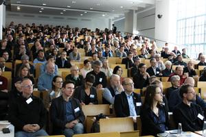 Der Holzbaukongress bot ein umfassendes Vortragsprogramm in den Vorlesungssälen des Instituts für Bauingenieurwesen der TU Berlin