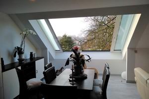 Das eingebaute Premium-Dachschiebefenster im Wohnhaus in Lotte bei Osnabrück