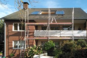 Auf der Südseite des Wohnhauses wurde das großformatige Dachschiebefenster eingebaut